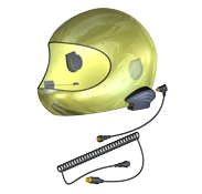 3G Render Yellow Full Face Helmet